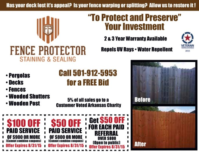 Red Door insert // Fence Protector Staining & Sealing